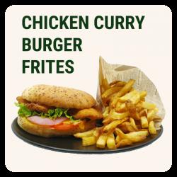 CHICKEN CURRY BURGER &...